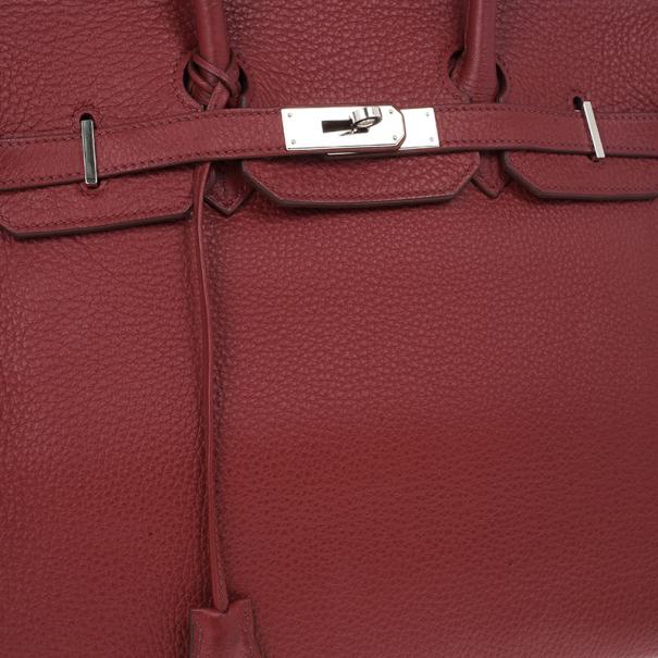 Hermes Garance Red Togo Leather Birkin 35cm