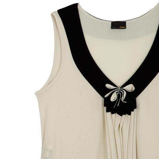 Fendi Gathered Monochrome Dress L