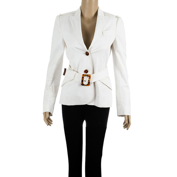 Gucci Single Breasted Buckle Jacket S