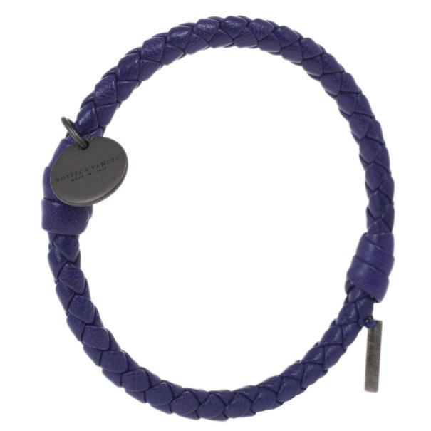 Bottega Veneta Intrecciato Nappa Purple Bracelet S
