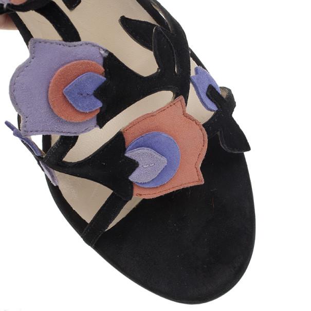 Prada Tulip T Strap Sandals Size 38.5