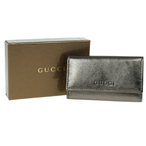 Gucci Metallic Leather Key Case
