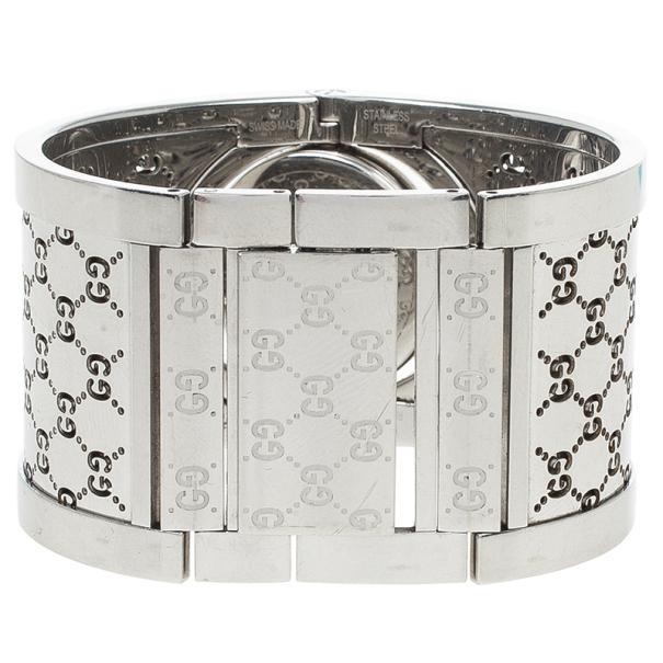 Gucci Brown Stainless Steel Twirl Women's Wristwatch 33MM