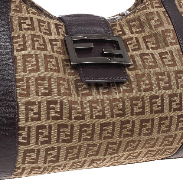 Fendi Zucca Canvas Medium Shoulder Bag