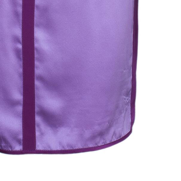 Narciso Rodriguez Purple Satin Panel Shift Dress M