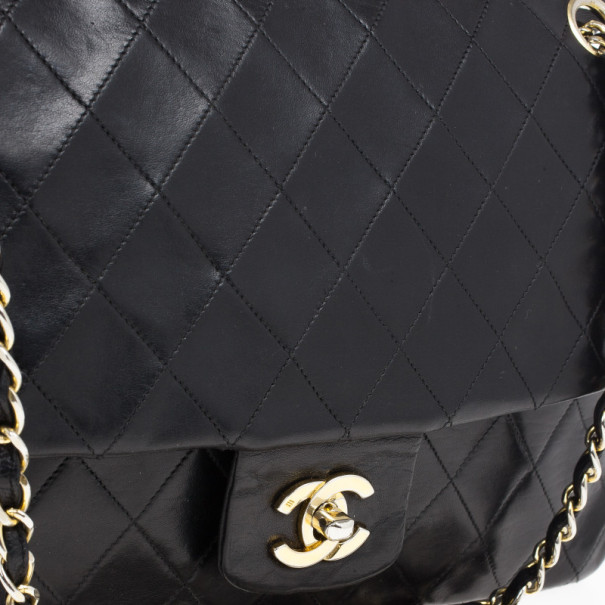 Chanel Black Vintage Lambskin Medium Classic Flap Bag