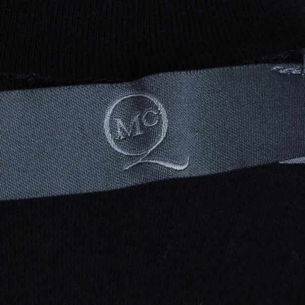 McQ by Alexander McQueen Black Ribcage T-Shirt M