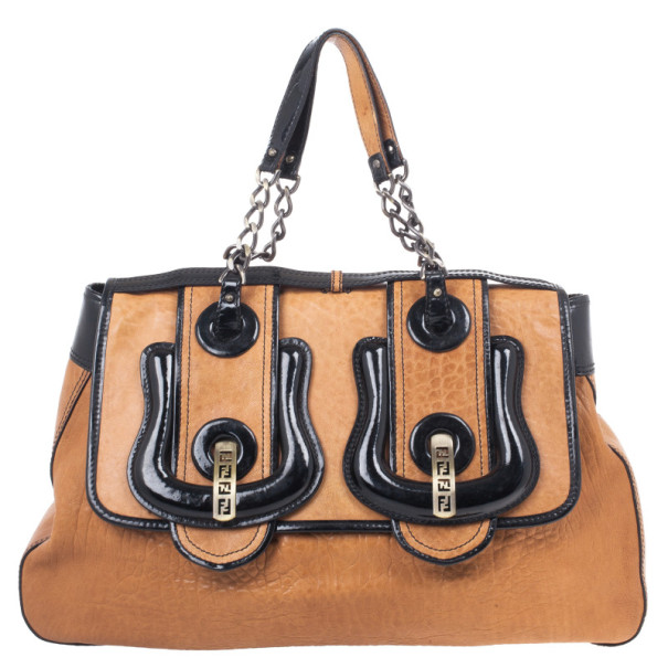 Fendi Brown Large Leather B Bag