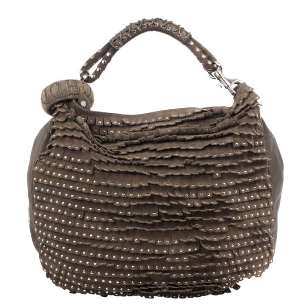 Jimmy Choo Sky Large Studded Suede Bag