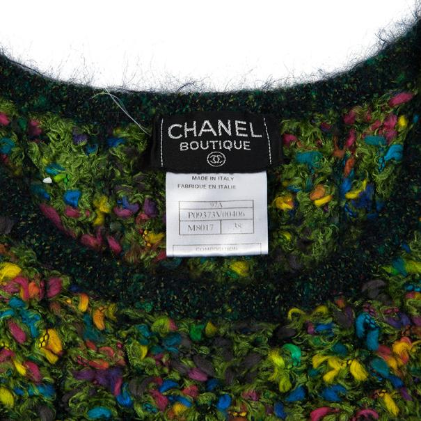 Chanel Multicolor Woven Sleeveless Top M