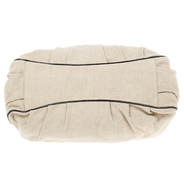 Fendi Beige Corda Canvas Mia Chain Handle Bag