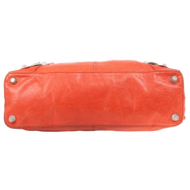 Balenciaga Orange Lambskin Giant Step