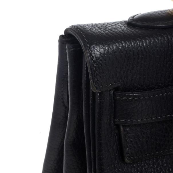 Hermes Vintage Black Kelly 35