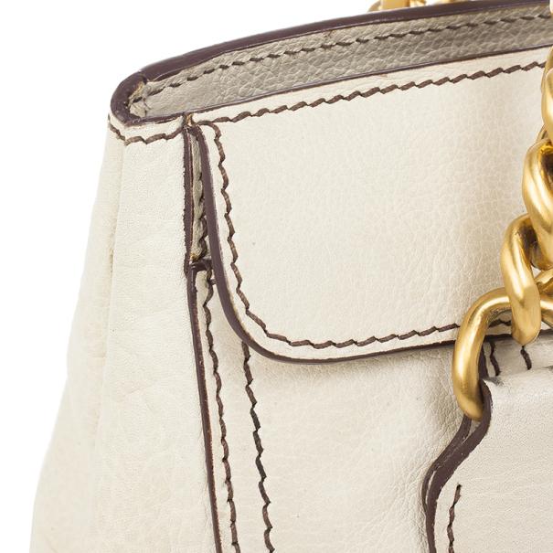 Miu Miu Beige Chain Strap Convertible Bag