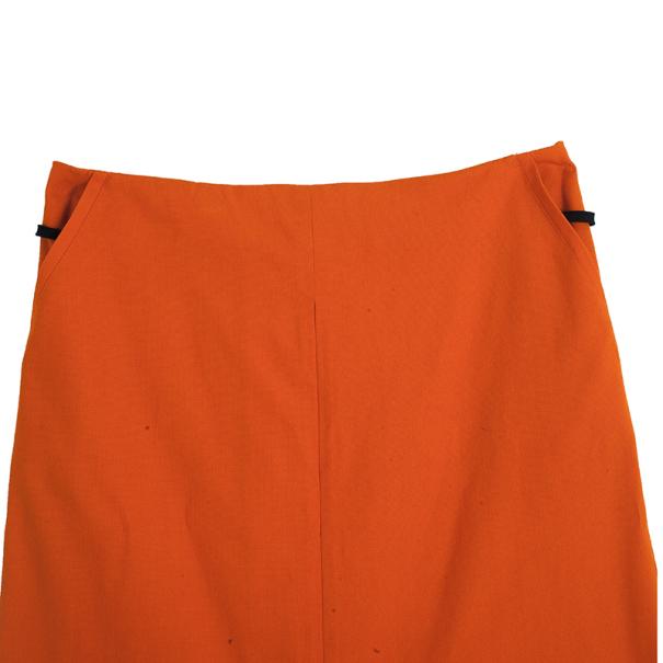 Diane Von Furstenberg Orange Belted Delion Skirt S