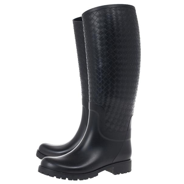 Bottega Veneta Intreciatto Rain Boots Size 39