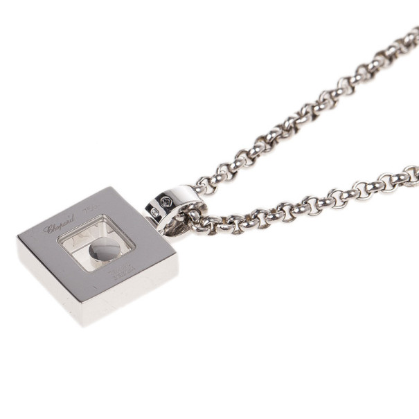 Chopard Happy Diamonds Icons 18K White Gold and Diamonds Pendant