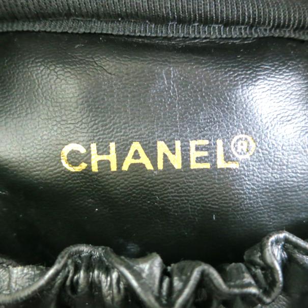 Chanel Black Calf Leather Vanity Bag