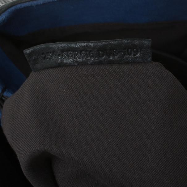 Fendi Black Calfskin Large Mia Shopper Tote