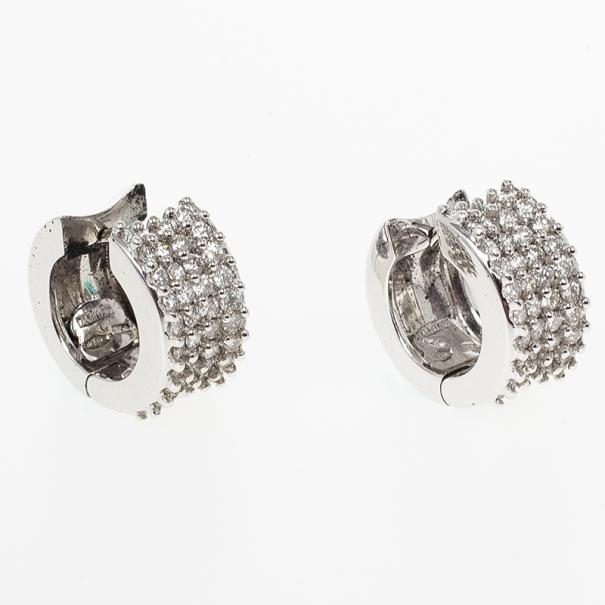 Damiani Diamond Small Hoops Earrings
