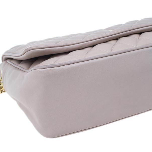 Carolina Herrera Beige Quilted Leather Crossbody Bag