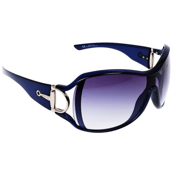 Gucci Navy Horsebit Sunglasses