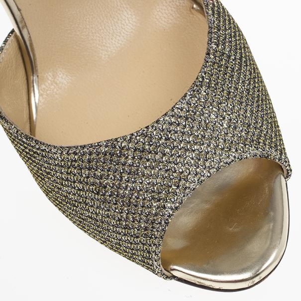 Jimmy Choo Lace Glitter Mary Jane Pumps Size 36