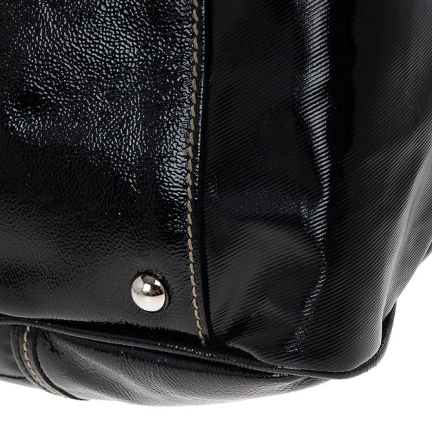 Gucci Black Snow Glam Medium Boston Bag