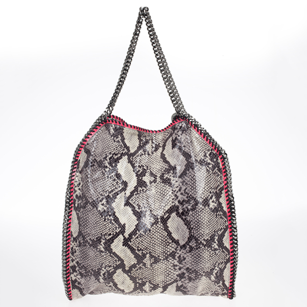 Stella McCartney Animal Chalk Falabella Faux Snakeskin Tote