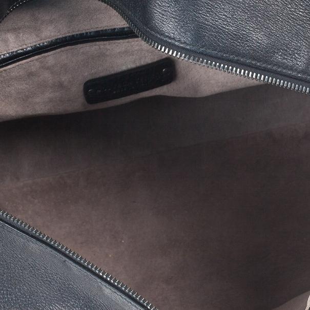 Bottega Veneta Black Large Brick Cervo Top Handle Bag