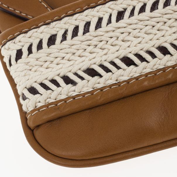 Burberry Calf Leather Rope Webbing Fuller Wristlet