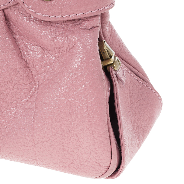 Marc Jacobs Pink Leather Lola Bag With Umbrella