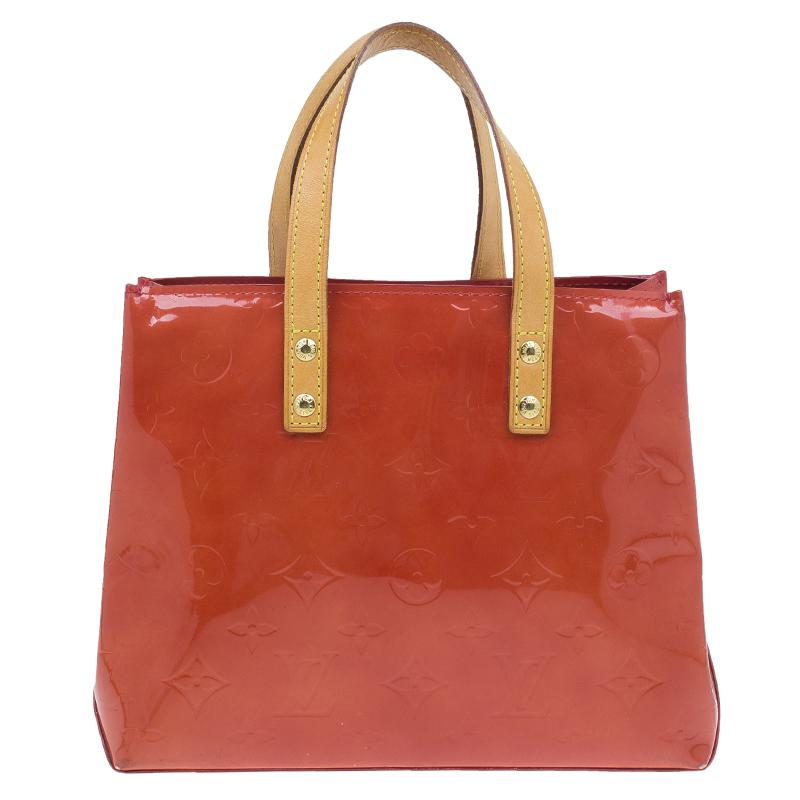 Louis Vuitton Red Monogram Vernis Reade PM Tote