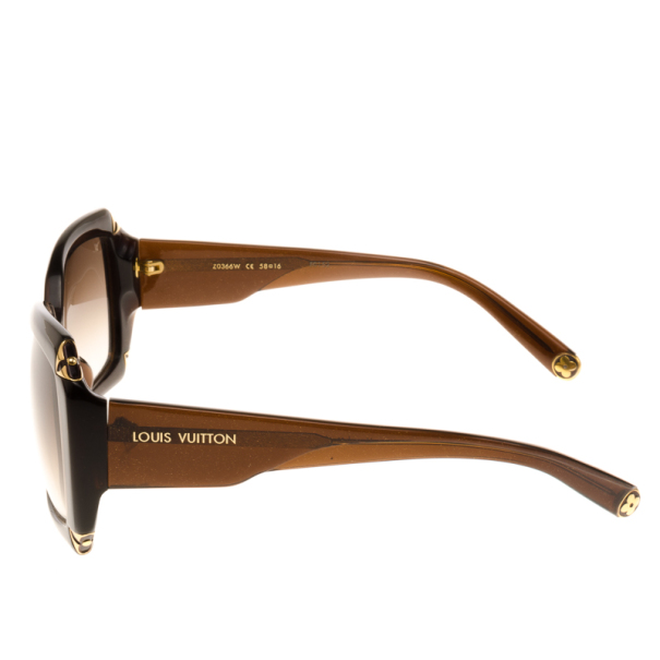 Louis Vuitton Brown Glitter Hortensia Woman Sunglasses