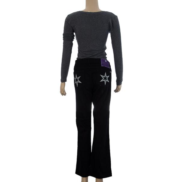 Victoria Beckham White Star Bootcut Jeans M