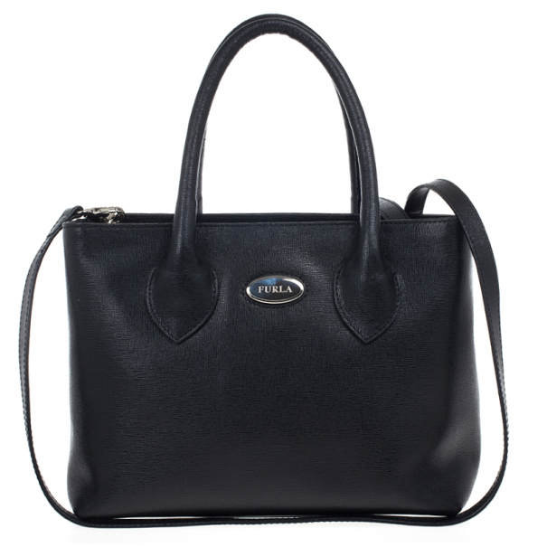 Furla Black Martha Convertible Satchel