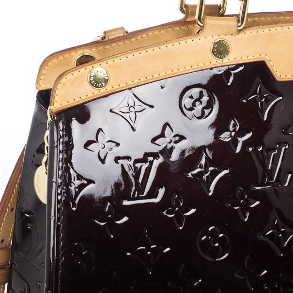 Louis Vuitton Amarante Vernis Monogram Brea MM