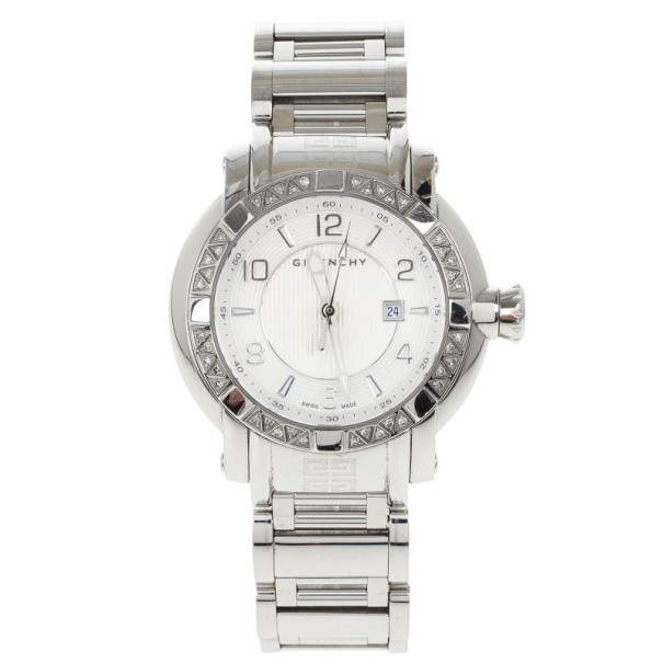 Givenchy White Stainless Steel GV.5202L Women's Wristwatch 36MM