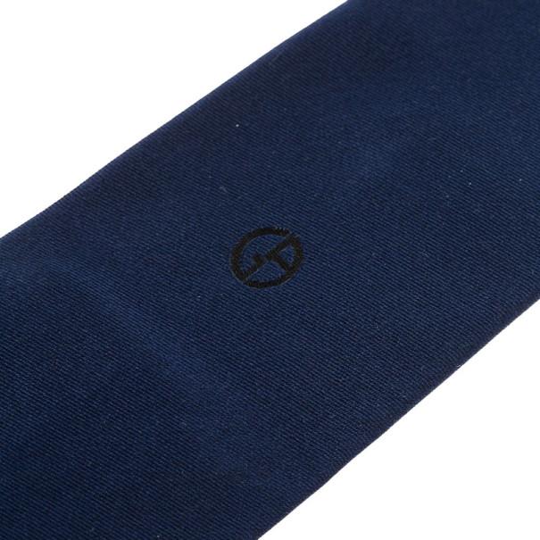 Giorgio Armani Navy Blue Silk Logo Tie