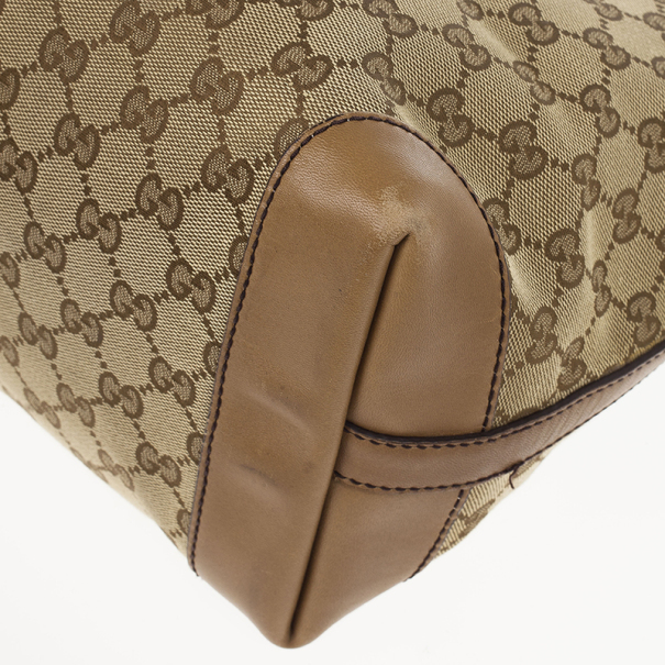 Gucci Beige Craft GG Tote Bag