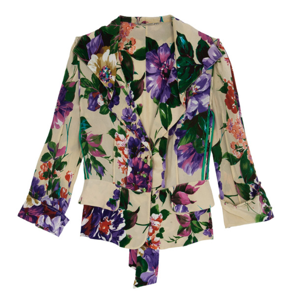 Dolce and Gabbana Floral Silk Jacket M