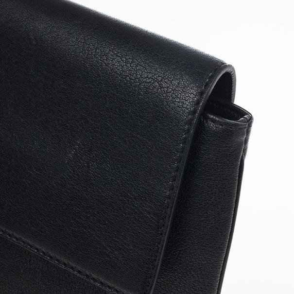 Chloe Black Amelia Leather Clutch