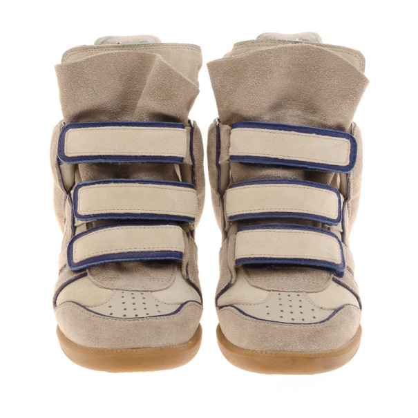 Isabel Marant Grey Bekett Wedge Sneakers Size 36
