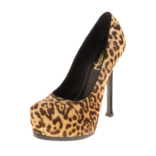 Saint Laurent Paris Pony Hair Tribtoo Plarform Pumps Size 36