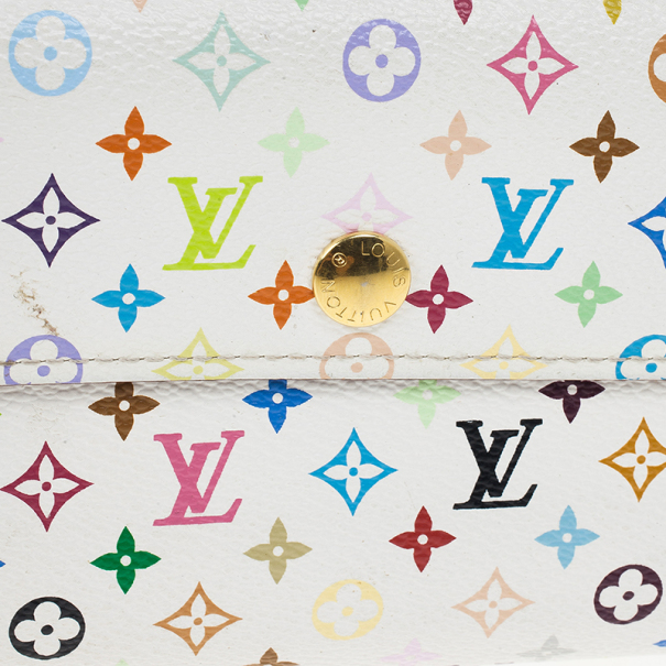 Louis Vuitton White Multicolore Alexandra Wallet