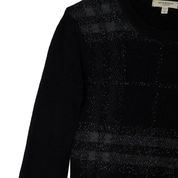 Burberry Brit Black Check Print Sweater S
