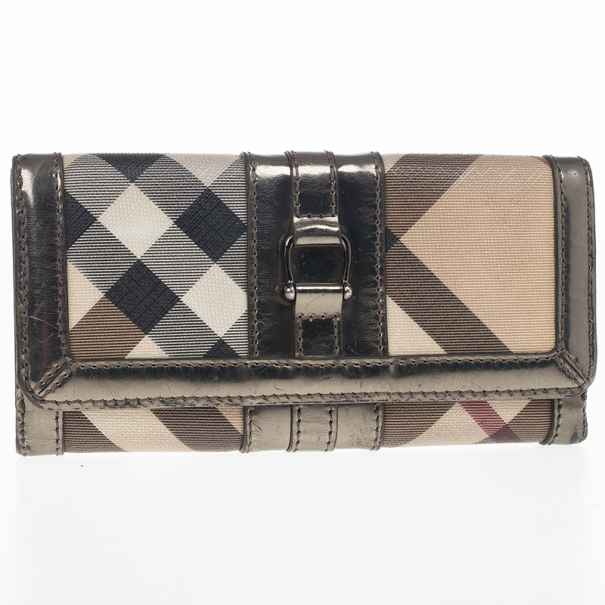 Burberry Nova Check Continental Wallet