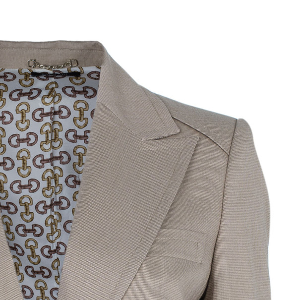 Gucci Beige Cotton Blazer L