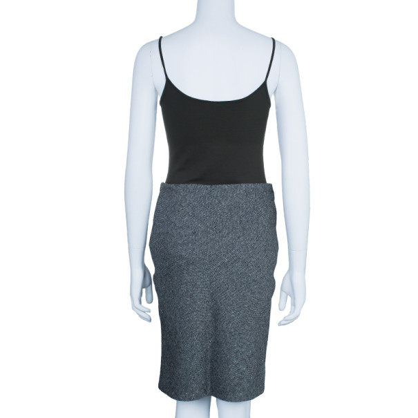 Dior Grey Wool Pencil Skirt M