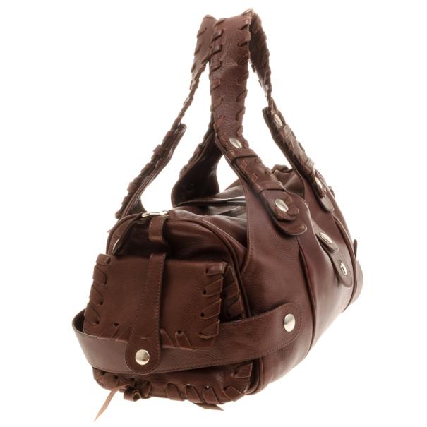Chloe Brown Buffalo Leather Silverado Bag
